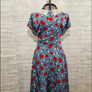 Hell Bunny 1950's Apple/Blossom Francine Dress